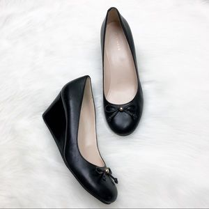 Cole Haan Black Wedges Shoes Size 7